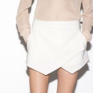 Zara asymmetrical wrap skort
